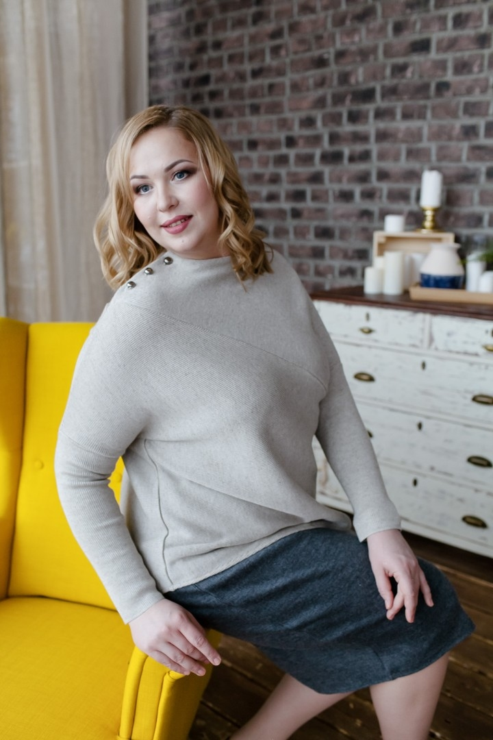 bf152c19c20d6 Джемпер из льна купить в интернет-магазине ModernSlavia по цене 4000 ...