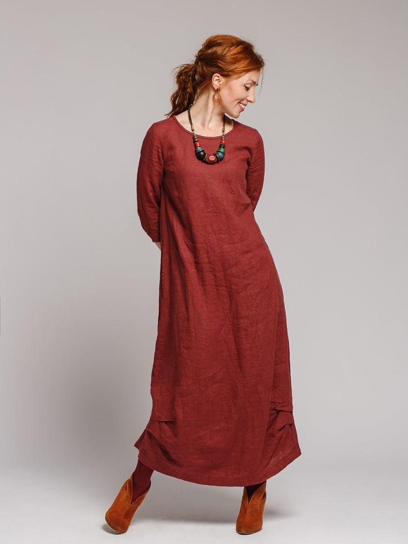 платье из льна купить в интернет